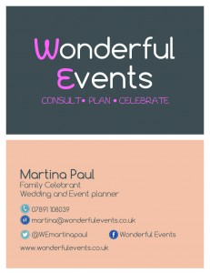 Wonderful Events martina paul celebrant warwickshire cotswolds