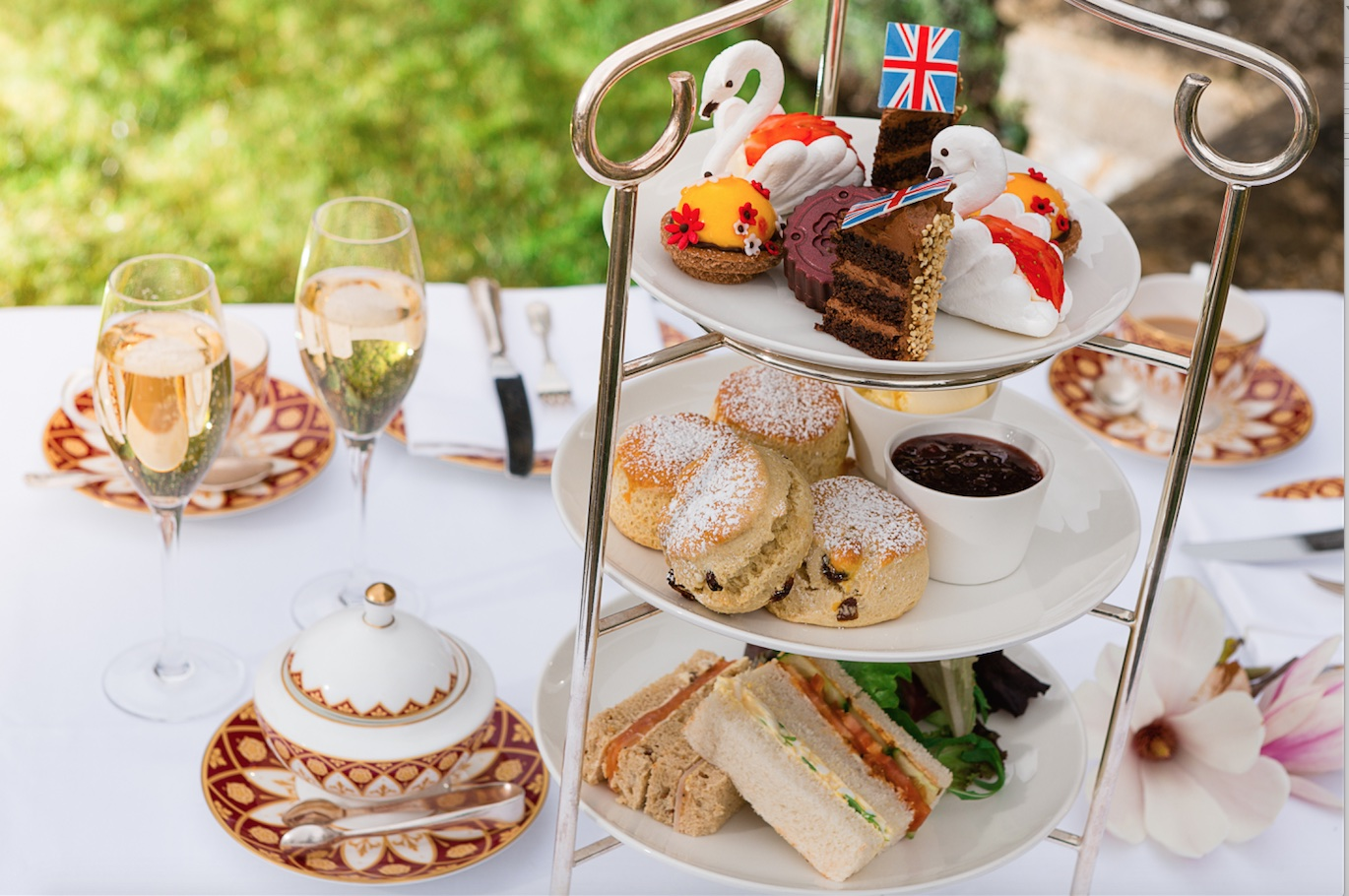 Afternoon Tea at Ellenborough Park Cheltenham Cotswolds